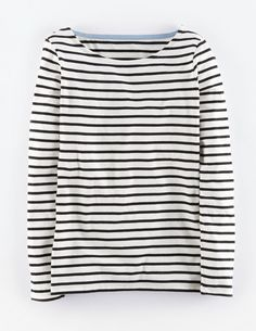 "Boden Long Sleeve Breton. ""Nothing beats a classic. Our Breton returns in the same supersoft cotton and a new slew of stripes."""