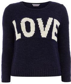 #us.dorothyperkins.com    #love                     #Petite #navy #love #jumper                         Petite navy love jumper                             http://www.seapai.com/product.aspx?PID=401773
