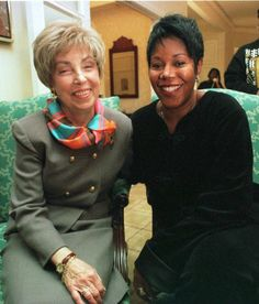 Barbara Henry here with Ruby Bridges forty years later.  Teachers at William Frantz Elementary School refused to accept the six year old as a student, (cheers for devoted teachers).   Ms Henry was the only teacher willing to teach Ruby Bridges in 1960.