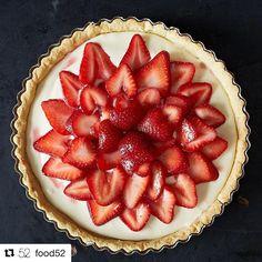 #Repost @food52 with @repostapp ・・・ 'Tis the season. ❤️ (link to strawberry-mascarpone tart in bio, photo by @jamesransom_nyc)