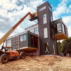 Shipping Container Home Designs, Shipping Container House Plans, Container House Design, Shipping Containers, Container Office, Building A Container Home, Container Buildings, Container Architecture, Modern Tiny House