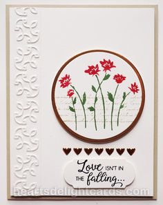 Heart's Delight Cards: Background Bits Meets Beautiful Bouquet