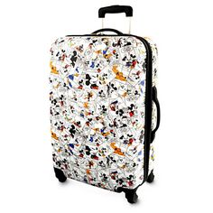 Mickey Mouse and Friends Comic Strip Luggage - 26'' | Disney Store Mickey Mouse Luggage, Disney Luggage, Disney Handbags, Disney Purse, Mickey Mouse And Friends, Disney Mickey Mouse, Mochila Jansport, Cute Suitcases, Disney Home
