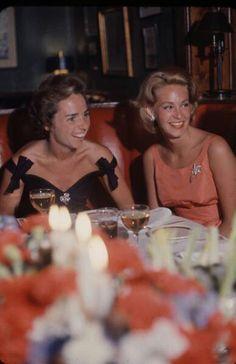 Ethel Skakel Kennedy with her sister in law Joan Bennett Kennedy.
