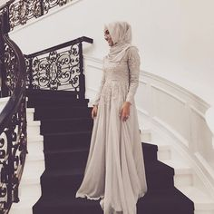 sorry I was a little late to the MET gala I missed my train by thatgirlyusra Muslim Prom Dress, Hijab Prom Dress, Muslim Gown, Hijab Outfit, Eid Dresses, Modest Dresses, Lace Dresses, Islamic Fashion, Muslim Fashion