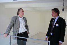 Wethouders René de Heer en Gerrit Piek maken plannen voor vandaag. Hoe kunnen zij de Droom van Zwolle een impuls geven?