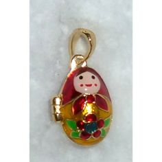 Babushka  #babushka #russiandoll #matryoshka #dollsindolls #pendant #faberge #handmade #jewelry