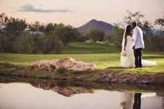 Trilogy at Vistancia Weddings | This beautiful Arizona desert landscape make for a beautiful backdrop to wedding portraits | www.weddingsatvistancia.com