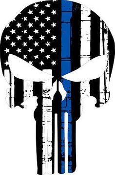 Punisher Skull American Flag Police Blue Line Decal - Graphic Various Sizes - (add metal Jeep grill behind) Punisher Comics, Punisher Logo, Punisher Tattoo, Punisher Netflix, Thin Blue Line Flag, Thin Blue Lines, Punisher Skull American Flag, Frank Castle Punisher, American Flag Decal