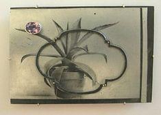 Bettina Speckner Jewellery - Brooch 2009  Photoetching/Zinc; Silver; Amethys