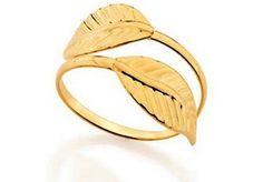 """ANEL Folha coleção""""ANA HICKMANN"""" Rommanel Joias com Glamour,lindo anel foleado a ouro 18k .  Tendo detalhe de galhos lisos com folhas nas pontas,DO NUMERO 16 AO 22 (joia licenciada coleção Ana Hickmann 9° edição).  Este lindo anel pode ser ser usado em qualquer ocasião ,muito sofisticado e com glamour.  Ideal para deixar você mais linda e atraente,no seu trabalho,na balada ou até mesmo na festa em que você foi convidada.  Arrase com esta linda peça.  Ou presentei quem você ama.  ..."""