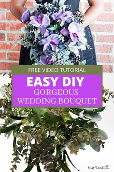 This is the very best tutorial on how to make a wedding bouquet!