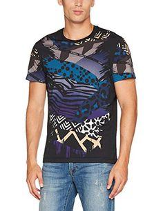 3ac6d8d3 Versace Jeans Men's EB3GQB7D4 T-Shirt, Multicolore (Fantasia), Large. Men t  shirt. Men t shirts. UK t shirt. Men fashion. Men outfits. Indoor dressing.