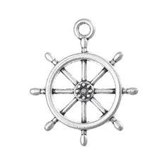 50 bulk package Silver Metal SHIP WHEEL Charm Pendants chs0477b by SmartParts on Etsy https://www.etsy.com/listing/200368980/50-bulk-package-silver-metal-ship-wheel