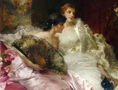 """""""After The Ball"""" by Conrad Kiesel (1846-1921)."""
