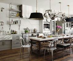 How to Instantly Upgrade your Kitchen without Spending a Small Fortune ---- GRAY, brown and white, yes pleasee!