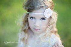 Flower Girl Wedding Headband Baby Headband by LittleLovesDesigns, $7.95