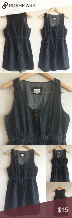 DEREK HEART  Cute Zipper Dress, Sz Large Cute!  4th pic shows light mark in material.  Derek Heart Dresses