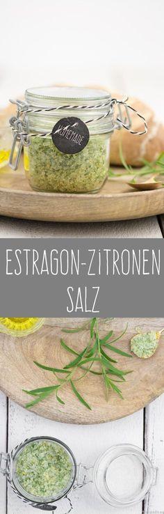 Russischer Estragon Rezept Salz Kräutersalz Zitronen selbstgemacht Geschenk aus der Küche