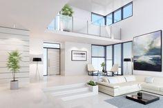 35 Amazing Interior Design Ideas For Modern Loft < moeshouse Dream Home Design, Modern House Design, Modern Houses, Modern Home Interior Design, Scandinavian Interior, Interior Ideas, Living Room Designs, Living Room Decor, Dining Room