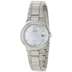 @Overstock - This stainless steel watch provides a classic and functional accessory. The white mother of pearl dial is accented by steel luminescent hands and markers. The bracelet measures seven inches long and has a push-button deployment clasp.http://www.overstock.com/Jewelry-Watches/Citizen-Womens-Eco-drive-Silhouette-Watch/6754066/product.html?CID=214117 $180.00