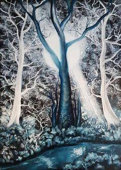 Original Nature Painting by Peter Ghetu Nature Paintings, Tree Art, Saatchi Art, Canvas Art, Art Prints, Desktop, Products, Paintings Of Nature, Painted Canvas