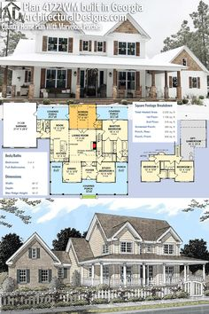 Architectural Designs House Plan 4122WM built by our client in Georgia! The home has 3 to 4 beds and 2,200 sq. ft.of heated space. Ready when you are. Where do YOU want to build? #4122wm #adhouseplans #architecturaldesigns #houseplan #architecture #newhome #newconstruction #newhouse #homedesign #dreamhome #dreamhouse #homeplan #architecture #architect #housegoals #Modernfarmhouse #Farmhousestyle #farmhouse