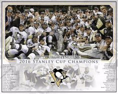2016 Stanley Cup Champions Pittsburgh Penguins Custom photo #PittsburghPenguins