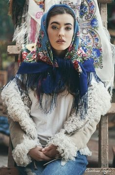 12. traditional russian head scarf collection