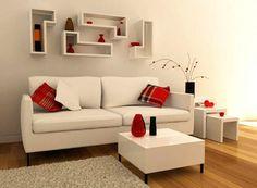 Sala clean . Abusar nas cores dos objetos de decoração.