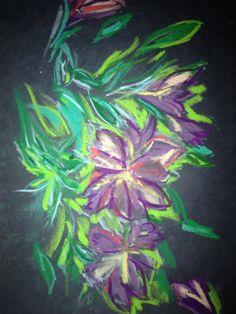 Oil pastel on art board