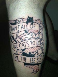 Cat lovers' tattoo