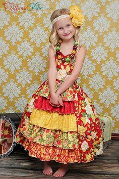 Penelope's Girls Boutique Princess Dress PDF Pattern
