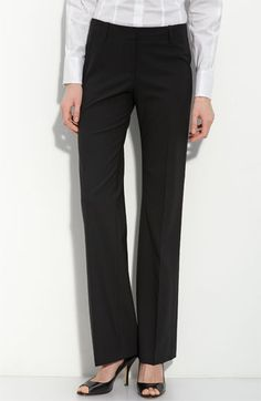 Classic tailored black wool pants