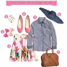 """""""MariaOnPoint: Trendy Thursday - Girl on a Budget with H&M"""" by mariaonpoint on Polyvore"""