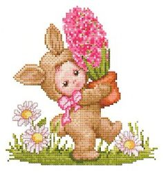 Bunny Baby Cross Stitch Pattern picture