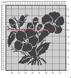 Tendina filet uncinetto 96 x 89 quadretti genziane