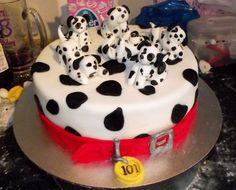 dalmation cake - collar & tag  by lindsi loolabell