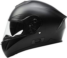 Motorcycle Full Face Helmet DOT Approved - YEMA Motorbike Moped Street Bike Racing Casco Moto Helmet with Bluetooth Space for Adult,Youth Men and Women - Matte Black, Large Open Face Motorcycle Helmets, Buy Motorcycle, Full Face Helmets, Street Bike Racing, Street Bikes, Course Moto, Moto Scooter, Military Humor, Helmet Design