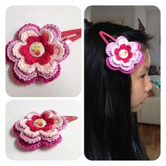 Sweet hair clip flower (L) by SweetHandmade Crchet