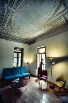 Alternative travelers' space for the restless voyager Modern Early 20th century mansion Center of Athens http://www.theposhpacker.com/pick/city-circus