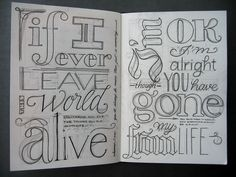 If I ever... alright draw| by Marina Chaccur from the words o~f If I ever leave this world alive - Flogging Molly