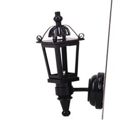 Dollhouse Décor - Foxnovo Vintage DIY Dollhouse 112 Dollhouse Miniature LED Wall Light Lamp Black *** Be sure to check out this awesome product.