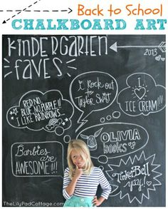 Back to School Chalkboard Art - one of 12 unique chalkboard ideas eclecticallyvintage.com