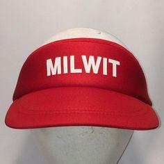 Vintage Sun Visor Hat Cap Red White Visors For Men Hats Golf Cap MIL WIT  Military Winnebago International Travelers Caps T8 JN8081 21cb9625a6a9