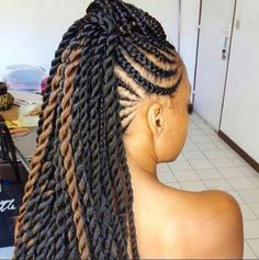 I looove mohawk styles,  I might try this :) African American Braids Ideas