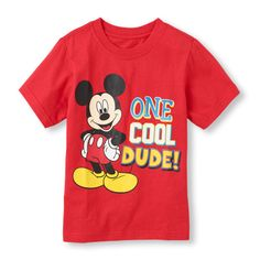 With his pal Mickey Mouse on his shirt, he'll be one cool dude!