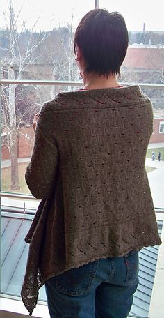 Daedalus wrap cardigan free pattern on Knittyspin at http://www.knitty.com/ISSUEss11/KSPATTdaedalus.php
