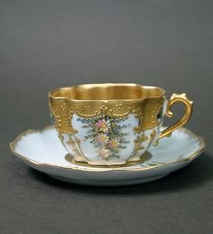 Limoges Martial Redon Mocha Cup