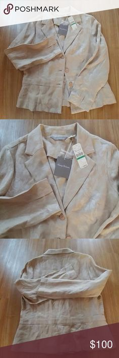 Tommy Bahama light jacket NWT never worn 100% Linen.Price is Firm Tommy Bahama Jackets & Coats